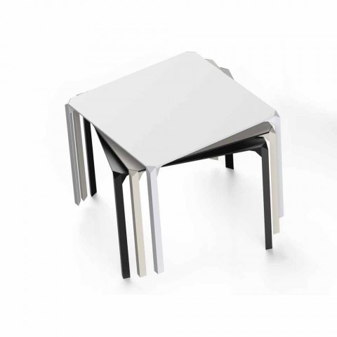 Vondom Quartz table de jardin carrée en polyamide, de design moderne
