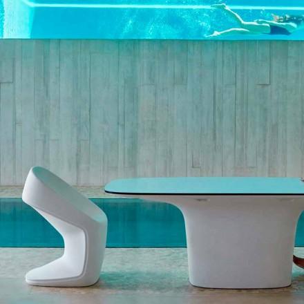 Vondom Ufo chaise de jardin blanche moderne, L.56xP.62xH.83cm