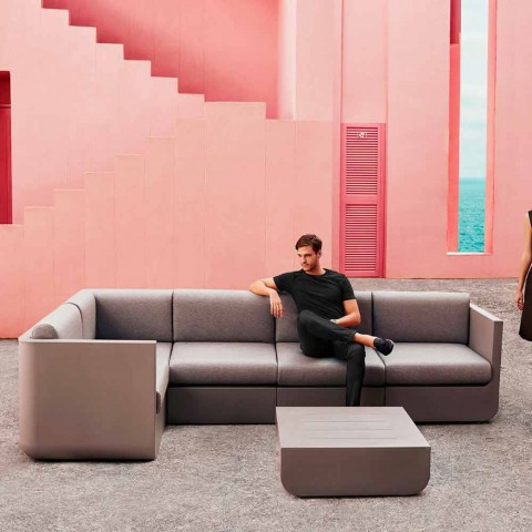 Vondom Ulm composition salon de jardin de design moderne taupe