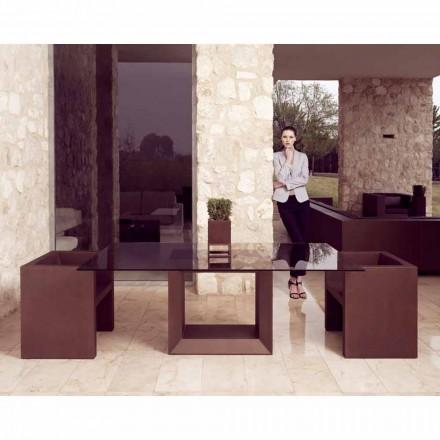 Vondom Vela fauteuil de jardin design moderne, finition bronze