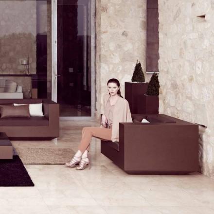Vondom Vela fauteuil de jardin moderne en polyéthylène laqué bronze