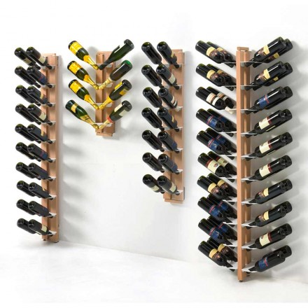Porte-bouteilles mural unilatéral de design Zia Gaia